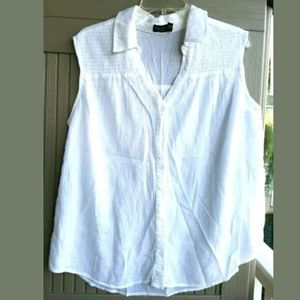 FADED GLORY White Spring Summer TOP sz 2X